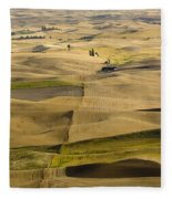 Farm Fields Fleece Blanket