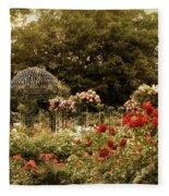 Garden Gazebo Fleece Blanket