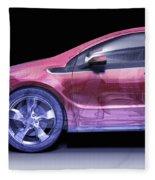 Hybrid Car Fleece Blanket