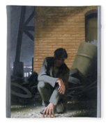 6. Jesus Prays Alone / From The Passion Of Christ - A Gay Vision Fleece Blanket