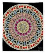 Kaleidoscope Colorful Jeweled Rhinestones Fleece Blanket
