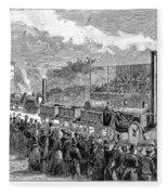 Locomotive Rocket, 1829 Fleece Blanket