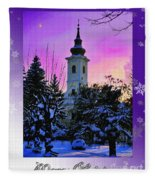 Christmas Card 21 Fleece Blanket