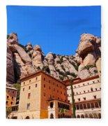 Monastery In Montserrat Fleece Blanket