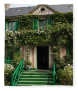Monets Garden - Giverney - France Fleece Blanket