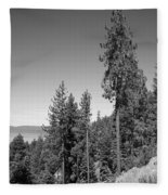 Mountainside Near Lake Tahoe Fleece Blanket