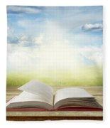Open Book Fleece Blanket