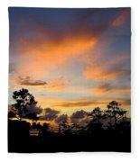 Outer Banks North Carolina Sunset Fleece Blanket