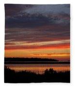 Outer Banks Sunset Fleece Blanket