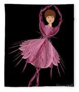 6 Pink Ballerina Fleece Blanket