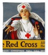 Red Cross Poster, 1917 Fleece Blanket