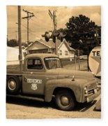 Route 66 - Shea's Gas Station Fleece Blanket