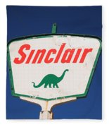 Route 66 - Sinclair Station Fleece Blanket