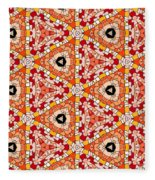Seamlessly Tiled Kaleidoscopic Mosaic Pattern Fleece Blanket