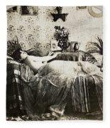Sleeping Woman, C1900 Fleece Blanket