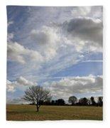 Spring Sunshine On Epsom Downs Surrey Fleece Blanket
