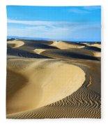 Sunrise At Oceano Sand Dunes Fleece Blanket