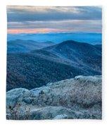 Sunset View Over Blue Ridge Mountains Fleece Blanket
