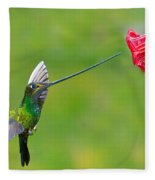 Sword-billed Hummingbird Fleece Blanket