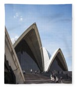 Sydney Opera House Detail In Australia  Fleece Blanket