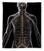The Nerves Of The Upper Body Fleece Blanket