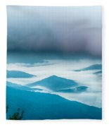 The Simple Layers Of The Smokies At Sunset - Smoky Mountain Nat. Fleece Blanket