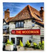 The Woodman Pub Fleece Blanket