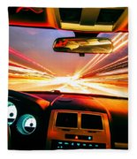 Traveling At Speed Of Light Fleece Blanket