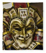 Venetian Carnaval Mask Fleece Blanket
