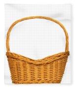 Wicker Basket Number Seven Fleece Blanket