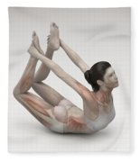 Yoga Bow Pose Fleece Blanket