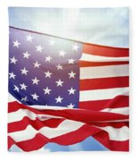 American Flag 55 Fleece Blanket