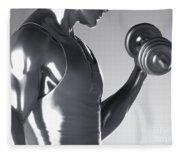 Exercise Workout Fleece Blanket