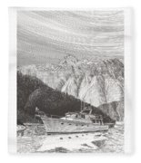 Desolation Sound Quiet Anchorage     Fleece Blanket