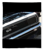 67 Black Camaro Ss Grill-8039-2 Fleece Blanket