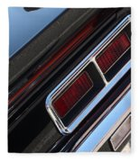 67 Black Camaro Ss Tail Light-8020 Fleece Blanket