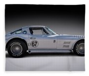 '67 Vette Fleece Blanket