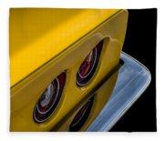 '69 Corvette Tail Lights Fleece Blanket