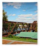 6th Street Bridge Fleece Blanket