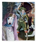 Bull Terrier Art Canvas Print Fleece Blanket