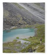 Backpacking In Alaska Talkeetna Fleece Blanket