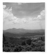 Blue Ridge Mountains - Virginia Bw 2 Fleece Blanket