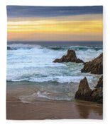 Campelo Beach Galicia Spain Fleece Blanket