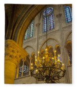 Cathedral Notre Dame Fleece Blanket