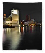 Cleveland Ohio Fleece Blanket