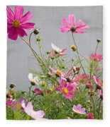 Close-up Of Flowers Fleece Blanket
