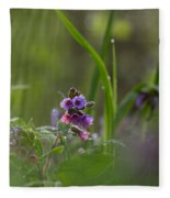 Common Lungwort Fleece Blanket