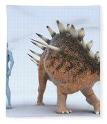 Dinosaur Kentrosaurus Fleece Blanket