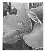 Dwarf Canna Lily Named Corsica Fleece Blanket