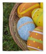 Easter Eggs Fleece Blanket